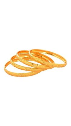 Waama Jewels Holiday Wear Golden Four Bangle Gift for Mother Bangle for Sister ( Size Inc. 2.6 )