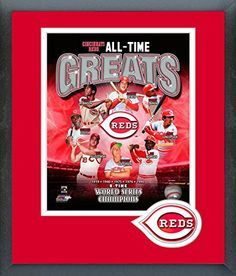 Cincinnati Reds All Time Greats Framed With Team Color Double Matting Ready To Hang- Awesome & Beautiful