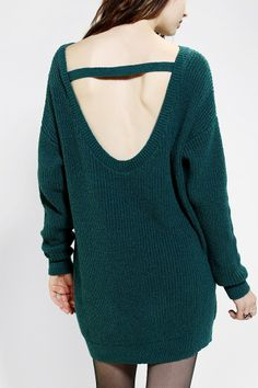 Kimchi Blue Scoop-Back Sweater Dress - Urban Outfitters