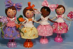 Girlfriends - Clothespin dolls. | Flickr - Photo Sharing!