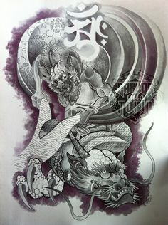 raijin tattoo - Поиск в Google