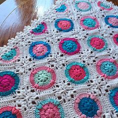 Candy Puffs Crochet Baby Blanket