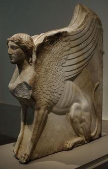 Roman Art. Sphinx-shaped bracket. Augustan period. Marble. Metropolitan Museum of Art. New York. United States.