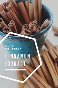 With the holidays approaching and spicy aromas galore, try this extremely easy DIY cinnamon extract recipe and substitute for powdered cinnamon. Cinnamon Extract, Cassia Cinnamon, Cinnamon Oil, Dyi, Easy Diy, Homemade Coffee Creamer, Cinnamon Recipes, Diy Recipe, Meals In A Jar