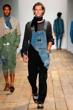 new yesterday/ reworked =  use again Greg Lauren Menswear Spring/Summer 2016 #Menswear #Overalls #Fashion
