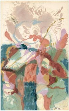 Helen Frankenthaler (1957) Jacob's Ladder. http://www.frankenthalerfoundation.org/artworks/paintings