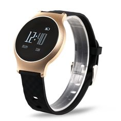 Form and function combine to create this classy stylish smart watch. Office Gadgets, Cool Tech Gadgets, Gadgets And Gizmos, Latest Gadgets, Clock Display, Display Screen, Smart Bracelet, Bracelet Watch, Blood Pressure