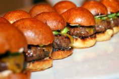 Chipotle Burger Sliders!   http://cookingwithmelody.com/all-recipes/starters/chipotle-burger-sliders/