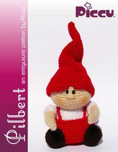 Pilbert the gnome - Amigurumi pattern pattern by Luisa Contreras