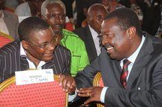 Kenya Power chairman Kenneth Marende (left) with Amani leader Musalia Mudavadi at a past event. FILE PHOTO   JARED NYATAYA