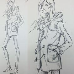 Design Sketch for Ralph Lauren POLO Woman Fall 2014