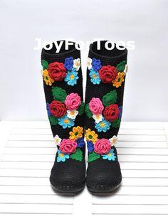 Stivali per l'estate strada sera moda Folk tribali di JoyForToes