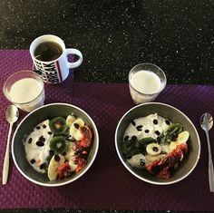 Fruit yoghurt bowl  My healthy recipe here: https://marinefrgr.wordpress.com/2016/02/12/fruit-yoghurt-bowl/