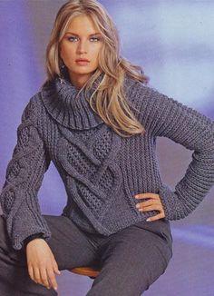 Модели вязанных кофт и свитеров