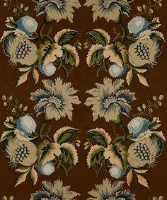 Lee Jofa Fabric 2012142.650 Jessup Sepia/Indigo
