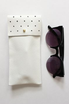 No-Sew Leather Glasses Pouch 1; so cute, Wonder if there is an alternative to having a utility punch