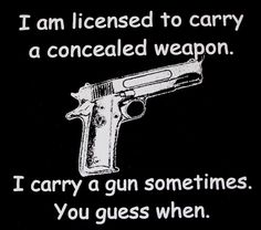 I will always thank my ex husband for teaching me how to shoot a gun and showed me not be afraid to use it.
