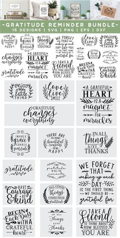 All Details You Need to Know About Home Decoration - Modern Thankful Quotes, Gratitude Quotes, Thanksgiving Messages, Thanksgiving Diy, 2 Clipart, Thursday Quotes, Cricut, Fathers Day Quotes, Reminder Quotes