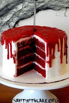 Bloody Halloween Cake - WomansDay.com