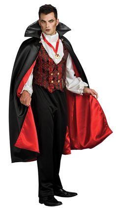 Transsylvaanian Vampyyri. Tämä upea, viitallinen vampyyrin asu on perinteisen näköinen ja taatusti tunnistettava.