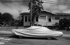 Robert Frank, Covered car, Long Beach, California, 1955-1956.
