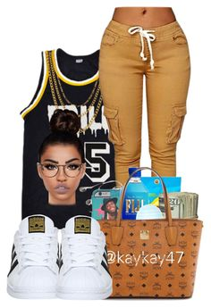 """trill55"" by ballislife ❤ liked on Polyvore featuring Champion, ASOS, adidas, Lime Crime and Tom Ford"