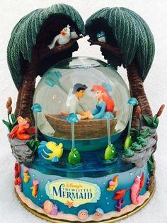 "Disney's The Little Mermaid Musical Snowglobe ""Kiss The Girl"" Box Included | eBay"
