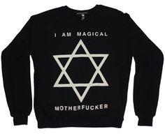 I Am Magical MOTHERF*CKER // Crew Sweatshirt // Black