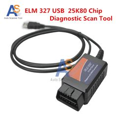New Arrival Excellent  ELM327 V1.5  USB  Diagnostic Scanner Tool  With 25K80 Chip OBD2 Interface  Support Multi-brands Car #Affiliate