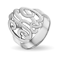 cloth, style, accessori, sterling silver, monogram ring, monograms, jewelri, gift idea, thing
