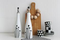 ♥+Essig-+und+Ölspender+handbemalt+♥+SET+von+Casa+Ambiente+auf+DaWanda.com