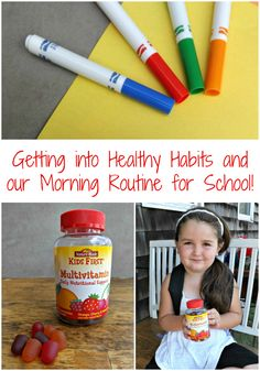 Read about how we get into healthy habits and our morning routine for school with Nature Made® KIDS FIRST® Multivitamin Gummies available at Target! #NatureMadeAtTarget #IC (ad)