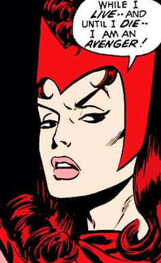 the scarlet witch in avengers #080 - 084 (1970)