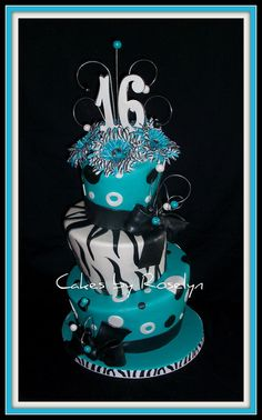 sweet 16 by Cakes By Roselyn, via Flickr