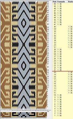 Diseño Tribal bracelet , 36 tarjetas, 4 colores, secuencia 10F-10B  // sed_687 diseñado en GTT༺❁