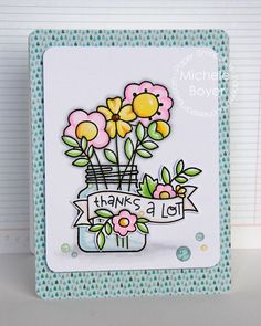Thanks A Lot card by Michele Boyer for Paper Smooches - Best Buds