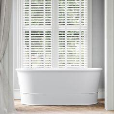 Freestanding Baths -Transform into an iconic Victorian-era Powder Room DADO Galvanized Tub, Classic Bathroom, Bathroom Interior Design, Kitchen And Bath, Powder Room, Quartz, Bathtubs, Instagram, Modern