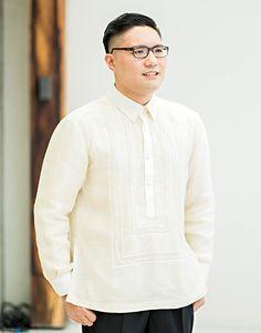 heinz-tiffany-1263 Barong Wedding, Graduation Attire, Barong Tagalog, Getting Married, Bespoke, Groom, Men Sweater, Philippines, Tiffany