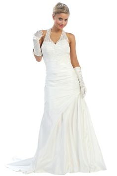 Wedding Dresess under $240  1193W  Satin and Lace!NEW ARRIVAL