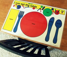 Manners - teaching children to set a table properly