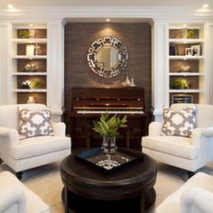 I like this room and the colors.  My concern is that it is a bit too formal, but  I still really like it.  I really like the brown/taupe/green colors and general style.