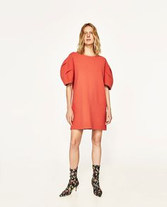 SHORT PUFF-SLEEVED DRESS-NEW IN-WOMAN | ZARA United States
