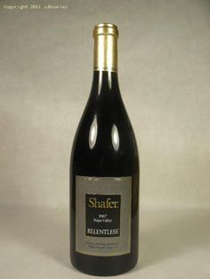 "Shafer Vineyards Napa Valley ""Relentless"" '07"
