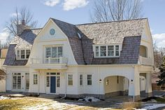 Second floor Kroiss Development Excelsior MN home Gambrel Barn, Gambrel Roof, Dutch Colonial Exterior, Dutch Colonial Homes, Colonial House Plans, Roof Styles, House Styles, Barn Style House Plans, Arquitetura