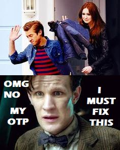 The Doctor ships Amy and Rory. lol