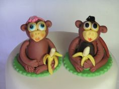 Mr and Mrs  cupcake topper by Sue Harkin