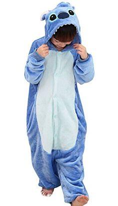 "Us Top (Blue Stitch) Kids Stitch Kigurumi Pajamas Children's Unisex Cosplay Costume Onesie (125(height:53.14""-57"")) USTOP http://www.amazon.com/dp/B00RJSD8N2/ref=cm_sw_r_pi_dp_u6vZvb1PXR78N"