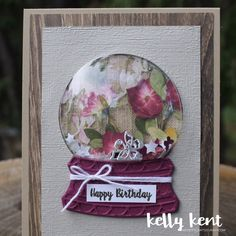 Which also marks the start of SPRING here in Australia. The weather is warming up, the days are longer and I couldn't be happier about that fact. Christmas Snow Globes, Christmas Cards, Globe Outline, Globe Projects, Hello September, Globe Ornament, Interactive Cards, How To Make Snow, Shaker Cards