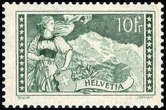 Switzerland, Michel 179. 1930, 10 Fr. virgin, in perfect condition mint never hinged and faultless. Certificate BP