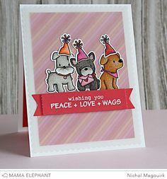 "nichol magouirk: Mama Elephant Designer Series | Playful Pups + Pop Up Trio ""Wishing You..."" Card (video)"